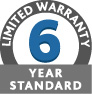 6 Year Standard Limited Warranty